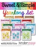 Sweet & Simple Calendar Numbers {Yearlong Set}