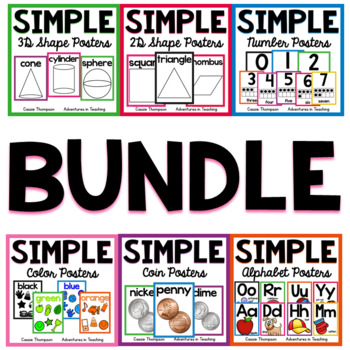 Sweet & Simple Classroom Decor Posters BUNDLE