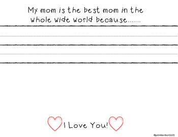 Sweet & Simple Mother's Day Card with Writing Prompt