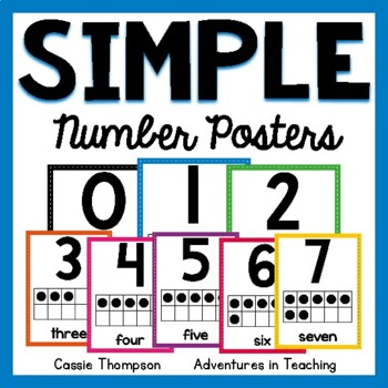 Sweet & Simple Number Posters