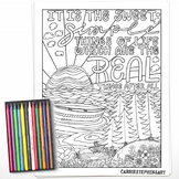 Sweet Simple Things, Positive Mindset, Nature, Camping Coloring Page Printable
