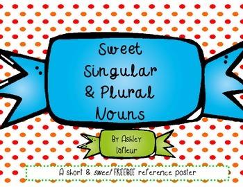 Sweet Singular & Plural Nouns FREEBIE