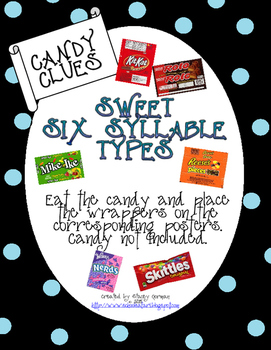 Sweet Six Syllable Types Posters