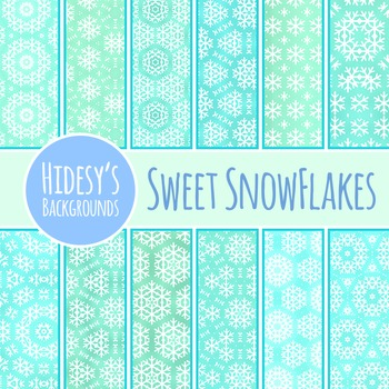 Sweet Snow Backgrounds / Digital Papers / Patterns Clip Ar