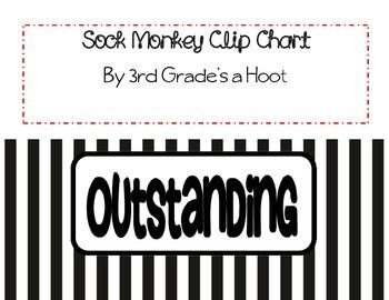 Sweet Sock Monkey Clip Chart