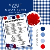 Sweet Southern EDITABLE Meet the Teacher and Newsletter Templates