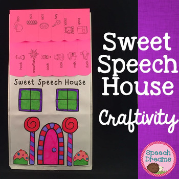 Sweet Speech House Craft {articulation language craftivities}