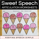 Sweet Speech No Prep Articulation Worksheets