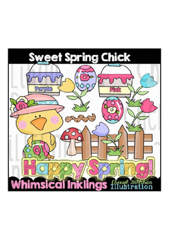 Sweet Spring Chick Clipart Collection
