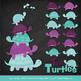 Sweet Stacks Tipsy Turtles Stack Clipart in Aqua & Plum
