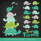 Sweet Stacks Tipsy Turtles Stack Clipart in Emerald Isle