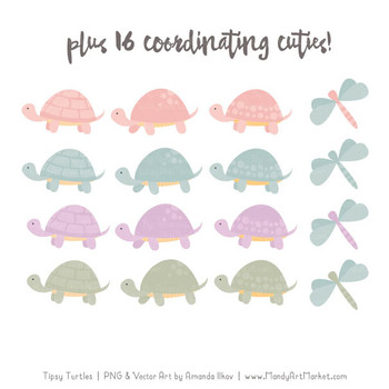 Sweet Stacks Tipsy Turtles Stack Clipart in Grandmas Garden