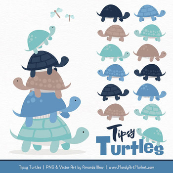 Sweet Stacks Tipsy Turtles Stack Clipart in Oceana