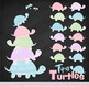 Sweet Stacks Tipsy Turtles Stack Clipart in Pastel