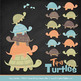 Sweet Stacks Tipsy Turtles Stack Clipart in Vintage Boy