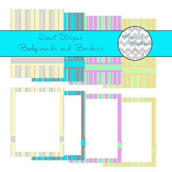 Sweet Stripes Backgrounds and Borders