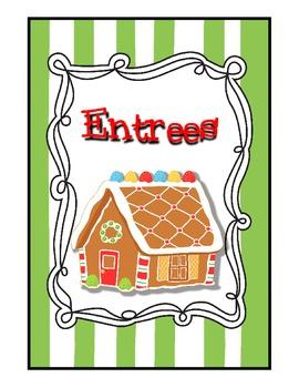 Sweet Stripes N' Dots Christmas Cookbook Packet