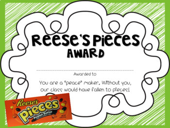 Sweet Students Candy Themed End of Year Awards {customizable!} over 50 awards!