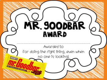 Candy End of Year Awards over 50 awards! editable