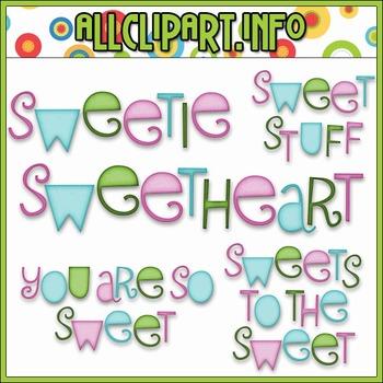 BUNDLED SET - Sweet Stuff Fairy Hippos Word Art Clip Art & Digital Stamp Bundle