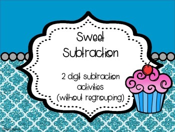Sweet Subtraction: 2 Digit without Regrouping {2nd CCSS}