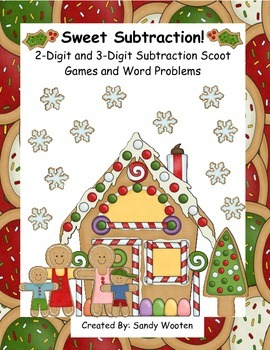 Sweet Subtraction! Common Core 2 and 3-Digit Subtraction Games and Word Problems