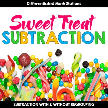 Differentiated Subtraction Math Center {Candy-Themed} for