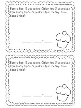Sweet Subtraction Story Problems