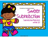 Sweet Subtraction, Subtraction Practice to 20 Math Center