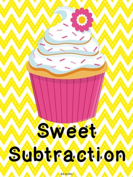 Sweet Subtraction Task Cards with QR codes