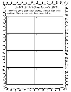 Word Problem Task Cards: Sweet Subtraction {With QR Codes}
