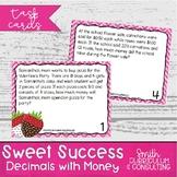 Valentine's Day Math Sweet Success Word Problems- Decimals with Money