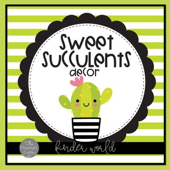 Sweet Succulents Classroom Decor Kit