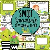 Sweet Succulents EDITABLE Classroom Decor Growing Bundle