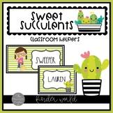 Sweet Succulents Classroom Helpers