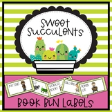 Sweet Succulents Theme Book Bin Labels