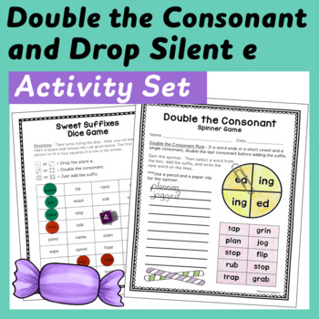Sweet Suffixes: Double the Consonant and Drop the e when adding ed and ing