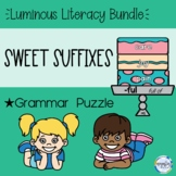 Sweet Suffixes (Grammar Puzzle) | Paper and Digital - Distance Learning