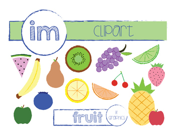 Sweet Summer Fruit Clip Art (Commercial)