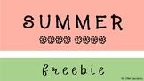 Sweet Summer Gift Tags FREEBIE