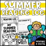 Summer Reading Log, Challenge & Bookmarks