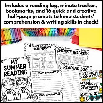 Summer Reading Log, Challenge & Bookmarks