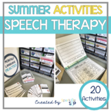 Summer Themed Speech Therapy | Sweet Summer Speech and Language