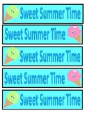 Sweet Summer Time Bookmarks