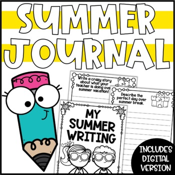 Summer Writing Prompts & Journal