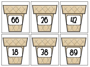 Sweet Summertime - Ice cream theme math centers