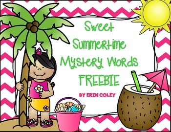 Sweet Summertime Mystery Words Freebie