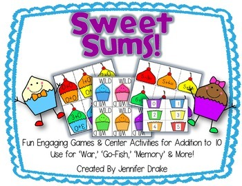 Sweet Sums!  Cupcake Fun For Addition To 10!  Games, Centers & More!