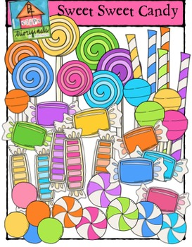 Sweet Sweet Candy {P4 Clips Trioriginals Digital Clip Art}