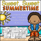 Sweet, Sweet Summertime - No Prep Math & Literacy Review P